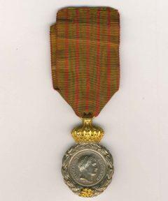 Image de Médaille de Saint Hélène Dorée + Argent