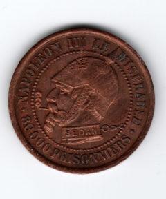 Image de Jeton Vampire Français – 2 décembre 1851 – 3 Septembre 1870 – Cuivre
